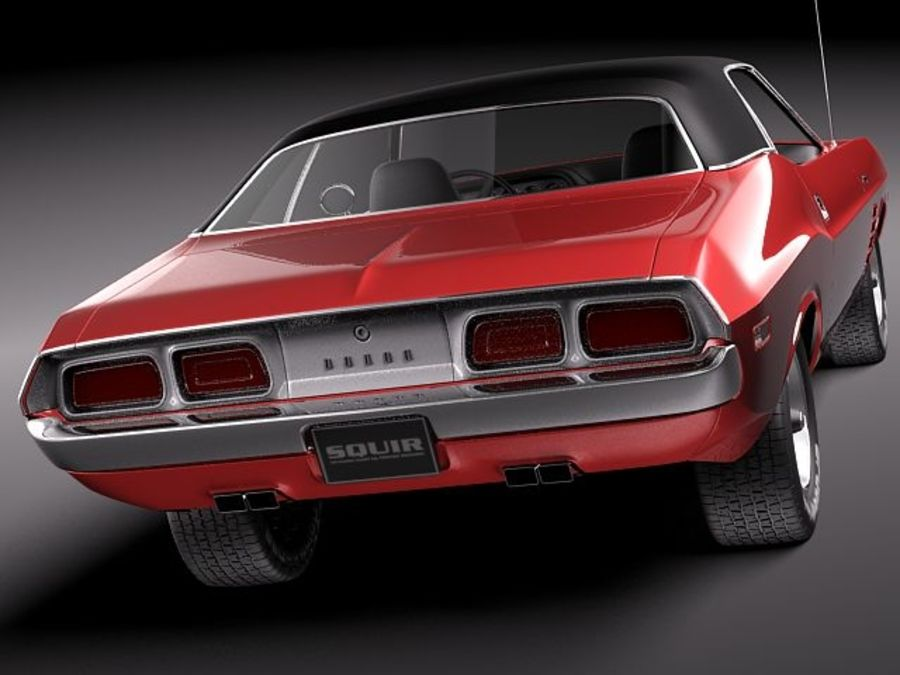 Dodge Challenger 1972-1974 royalty-free 3d model - Preview no. 5