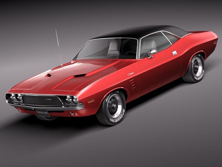 Dodge Challenger 1972-1974 royalty-free 3d model - Preview no. 1