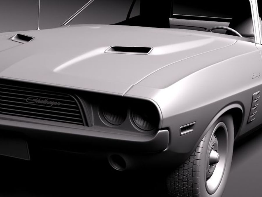 Dodge Challenger 1972-1974 royalty-free 3d model - Preview no. 9