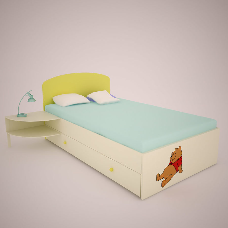 Muebles de sala de niños royalty-free modelo 3d - Preview no. 2