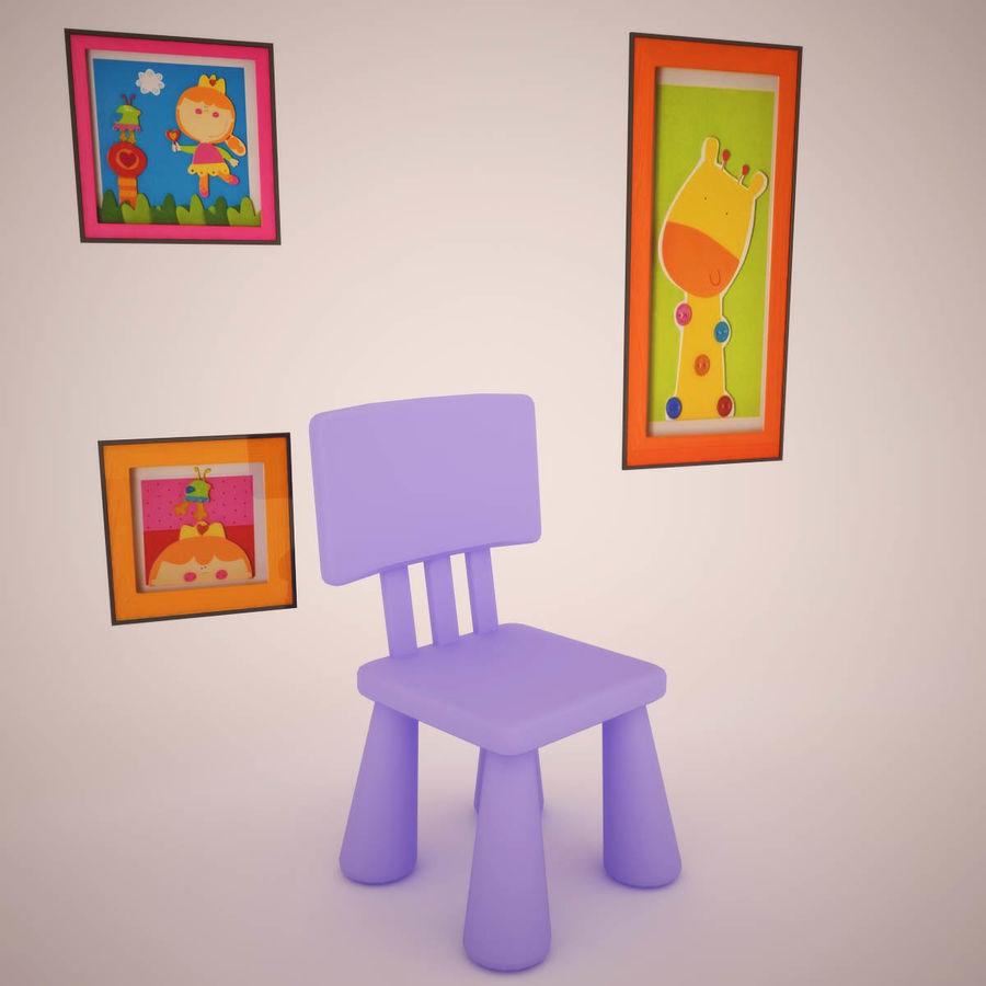 Muebles de sala de niños royalty-free modelo 3d - Preview no. 5