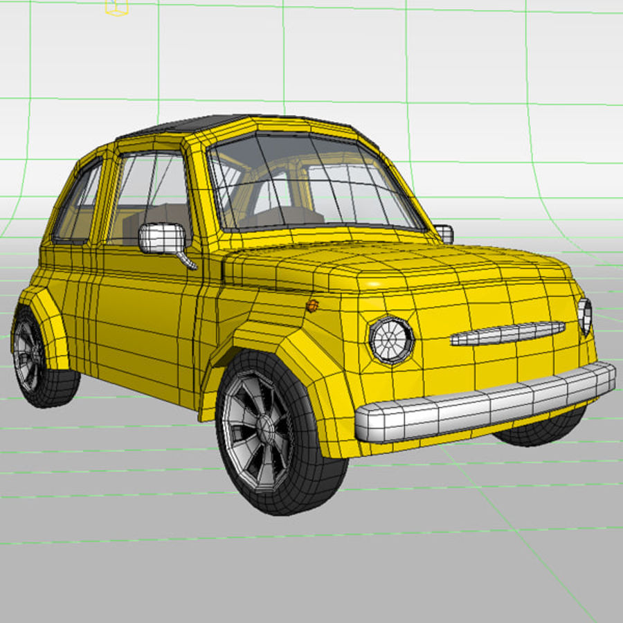 漫画のおもちゃの車 royalty-free 3d model - Preview no. 9