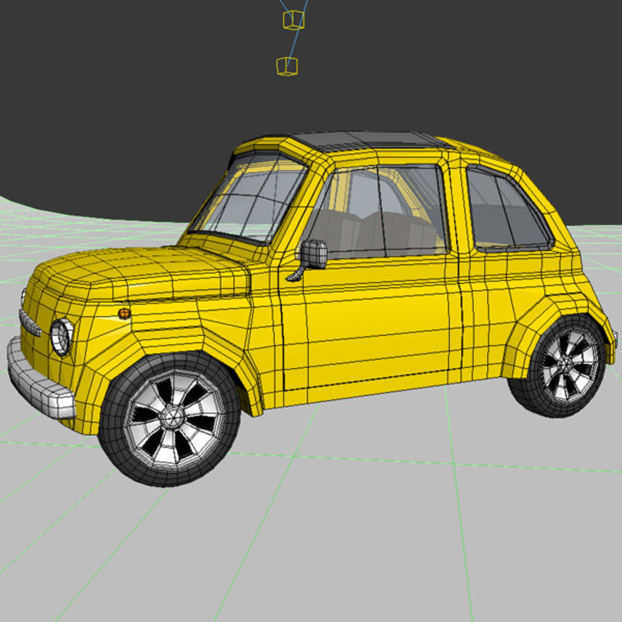 漫画のおもちゃの車 royalty-free 3d model - Preview no. 10
