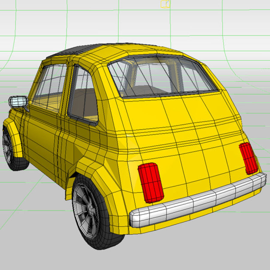 漫画のおもちゃの車 royalty-free 3d model - Preview no. 11