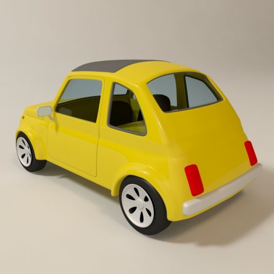 漫画のおもちゃの車 royalty-free 3d model - Preview no. 5