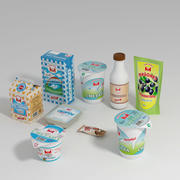 Dairy products 3d model