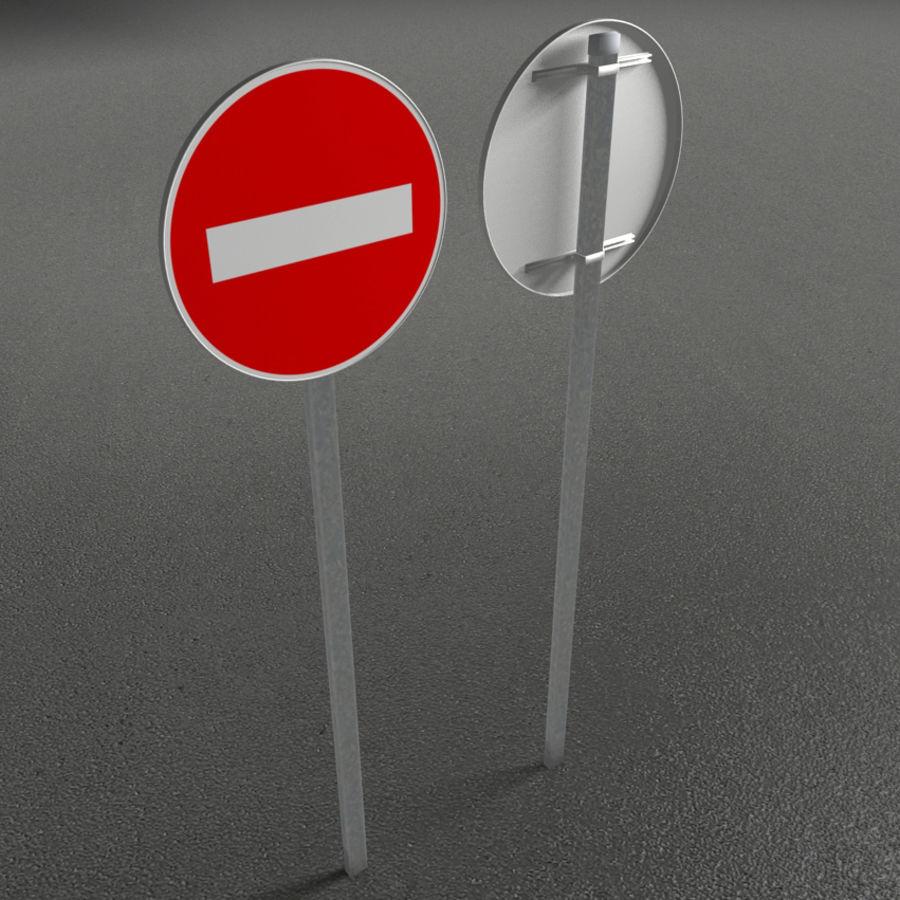 Коллекция французских дорожных знаков royalty-free 3d model - Preview no. 3
