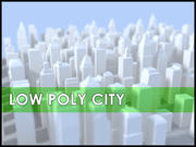 Låg Poly City 3d model