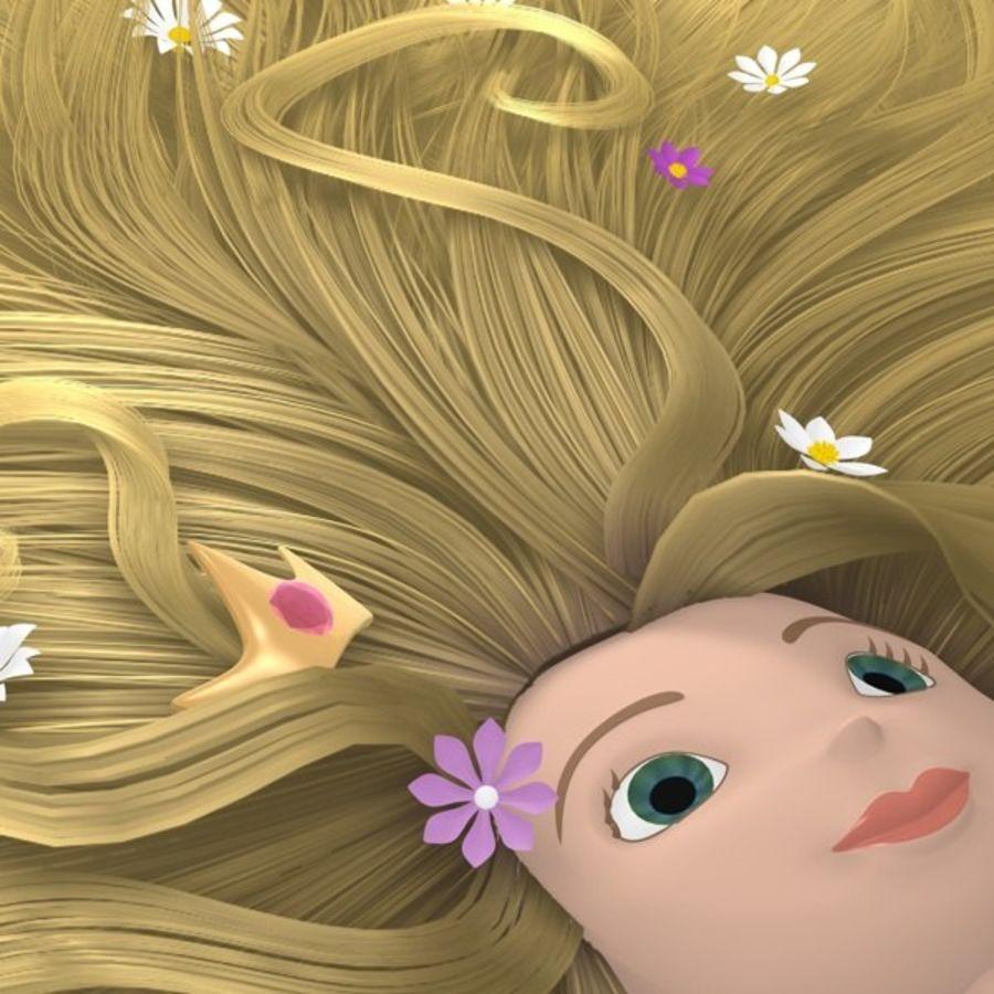 Postać księżniczki royalty-free 3d model - Preview no. 8