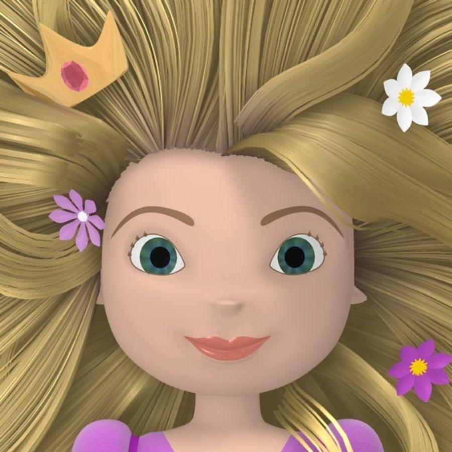 Postać księżniczki royalty-free 3d model - Preview no. 6