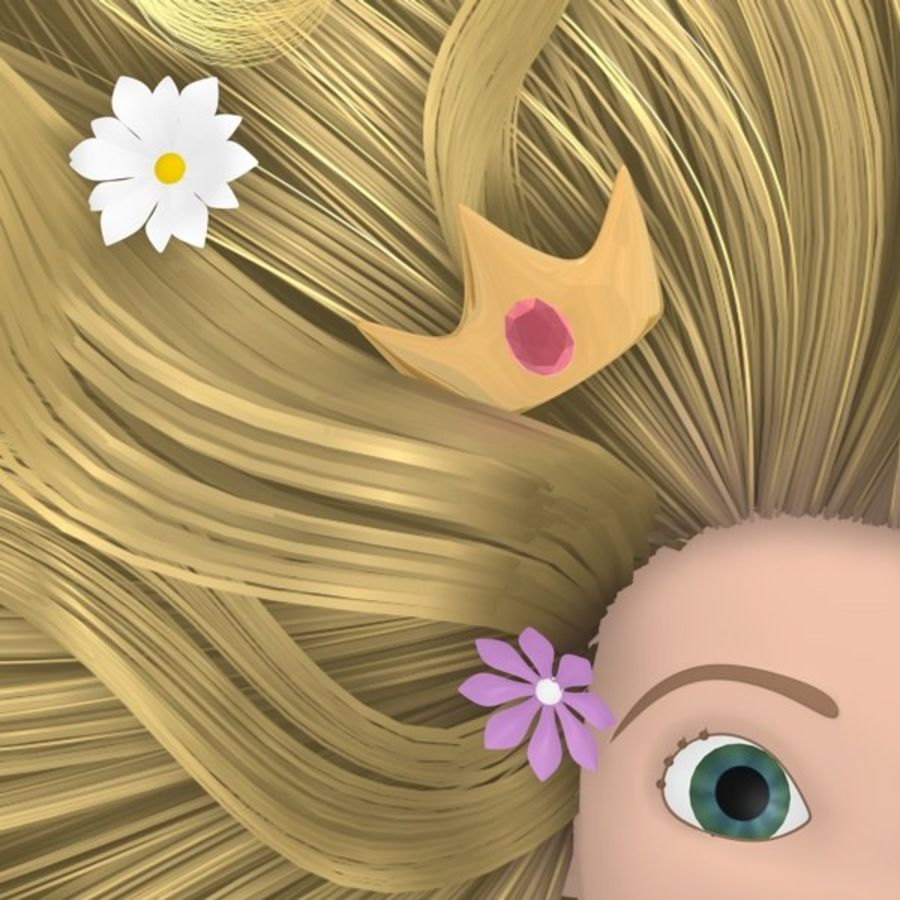Postać księżniczki royalty-free 3d model - Preview no. 4