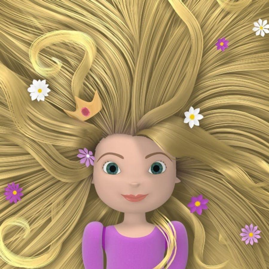 Postać księżniczki royalty-free 3d model - Preview no. 1