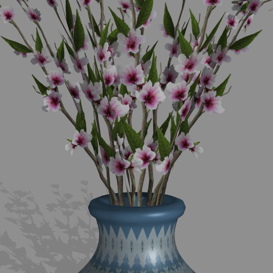 PL Peach Blossoms43 royalty-free 3d model - Preview no. 4