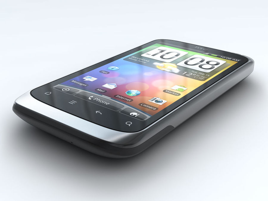 HTC Desire S royalty-free 3d model - Preview no. 4