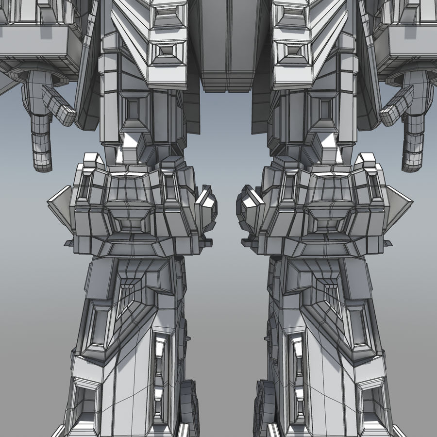 Mech Anime Character royalty-free 3d model - Preview no. 5