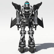 Mech Anime Charakter 3d model
