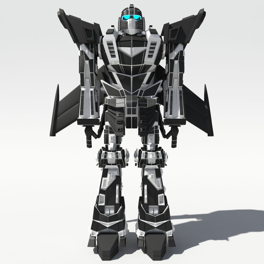 Mech Anime Character royalty-free 3d model - Preview no. 1