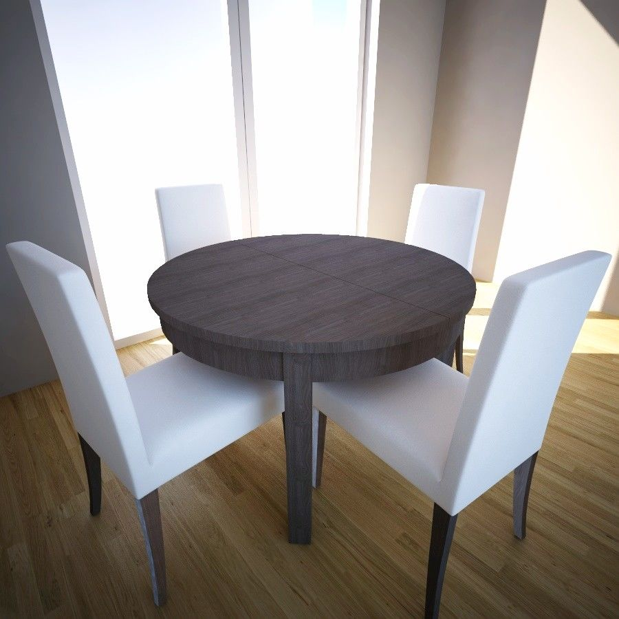 Extensible Table And Chairs Ikea Bjursta Henricksdal 3d Model 13 3ds Max Dwg C4d Free3d