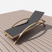 chaise de plage 3d model