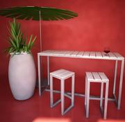 Outdoor furniture-bar, Gandia Blasco 3d model