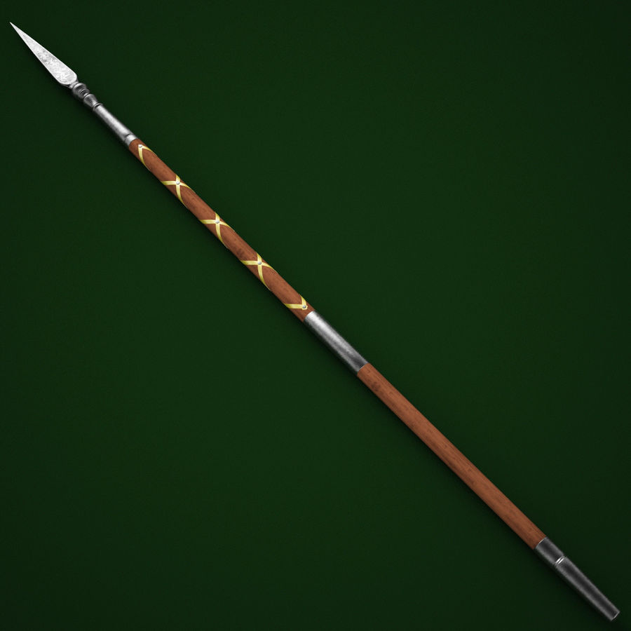 Medieval Spear V1 royalty-free 3d model - Preview no. 2
