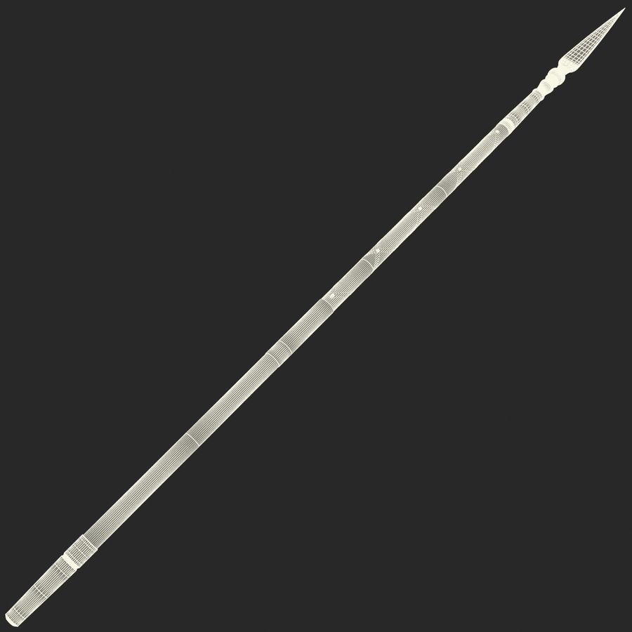 Medieval Spear V1 royalty-free 3d model - Preview no. 10
