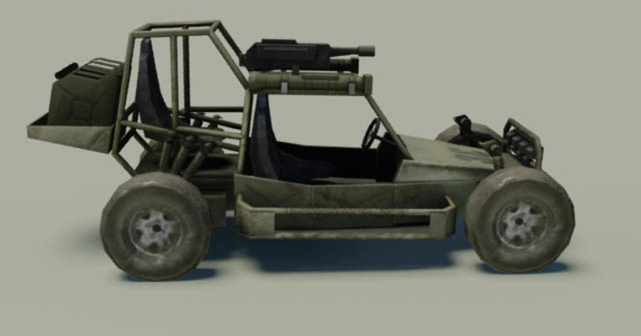 buggy royalty-free 3d model - Preview no. 3