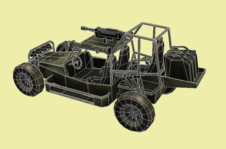 buggy royalty-free 3d model - Preview no. 4
