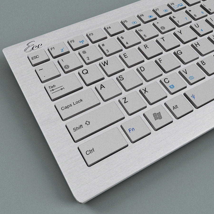 Asus Eee Keyboard PC royalty-free 3d model - Preview no. 8