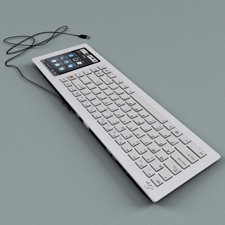 Asus Eee Keyboard PC royalty-free 3d model - Preview no. 3