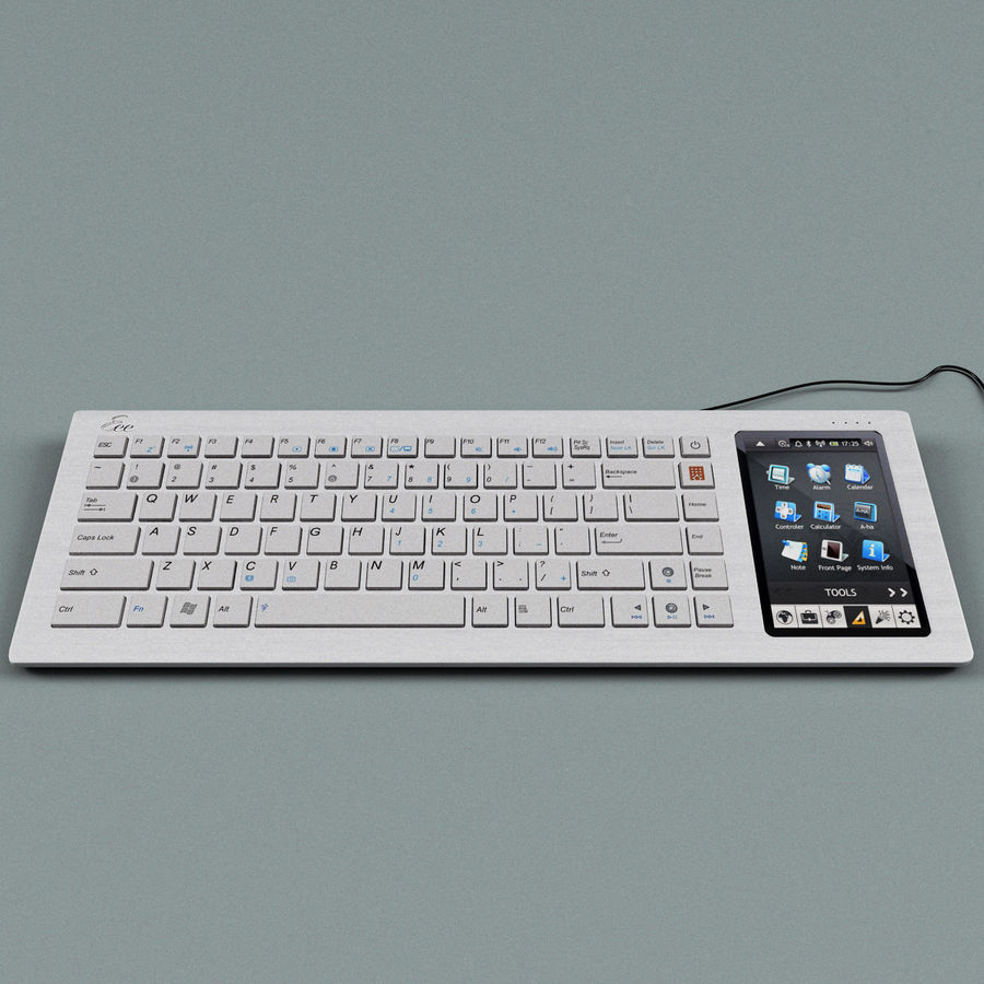 Asus Eee Keyboard PC royalty-free 3d model - Preview no. 6