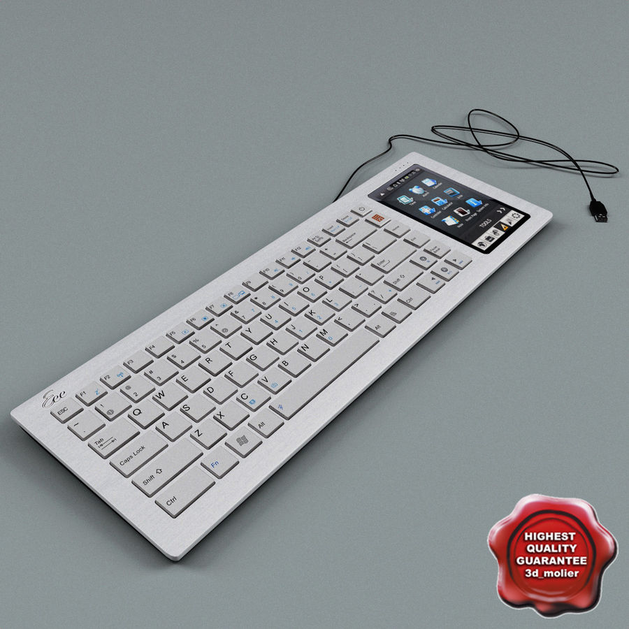 Asus Eee Keyboard PC royalty-free 3d model - Preview no. 1