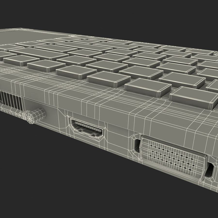 Asus Eee Keyboard PC royalty-free 3d model - Preview no. 19