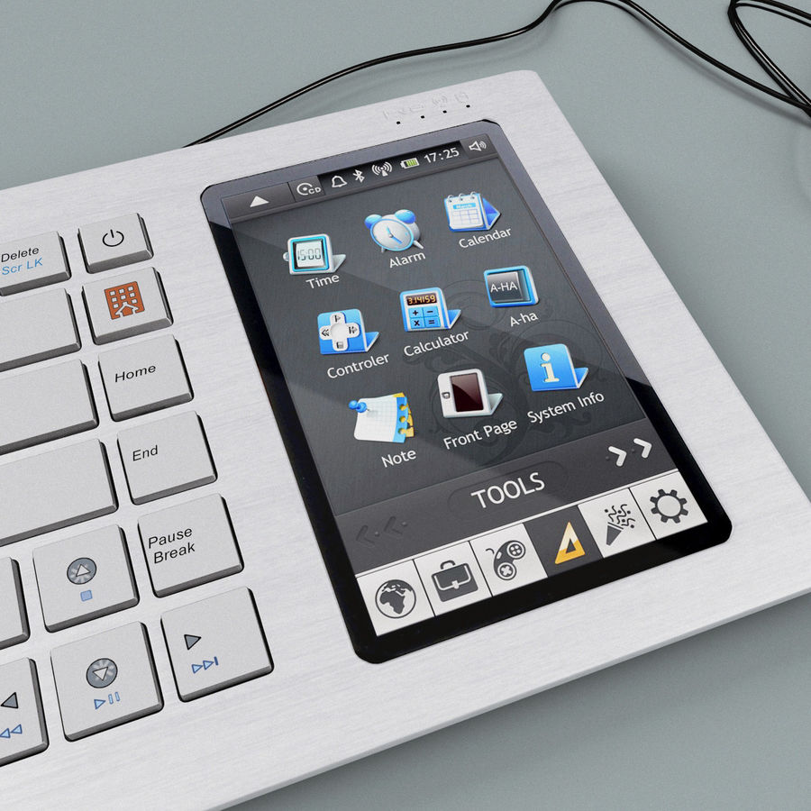 Asus Eee Keyboard PC royalty-free 3d model - Preview no. 10