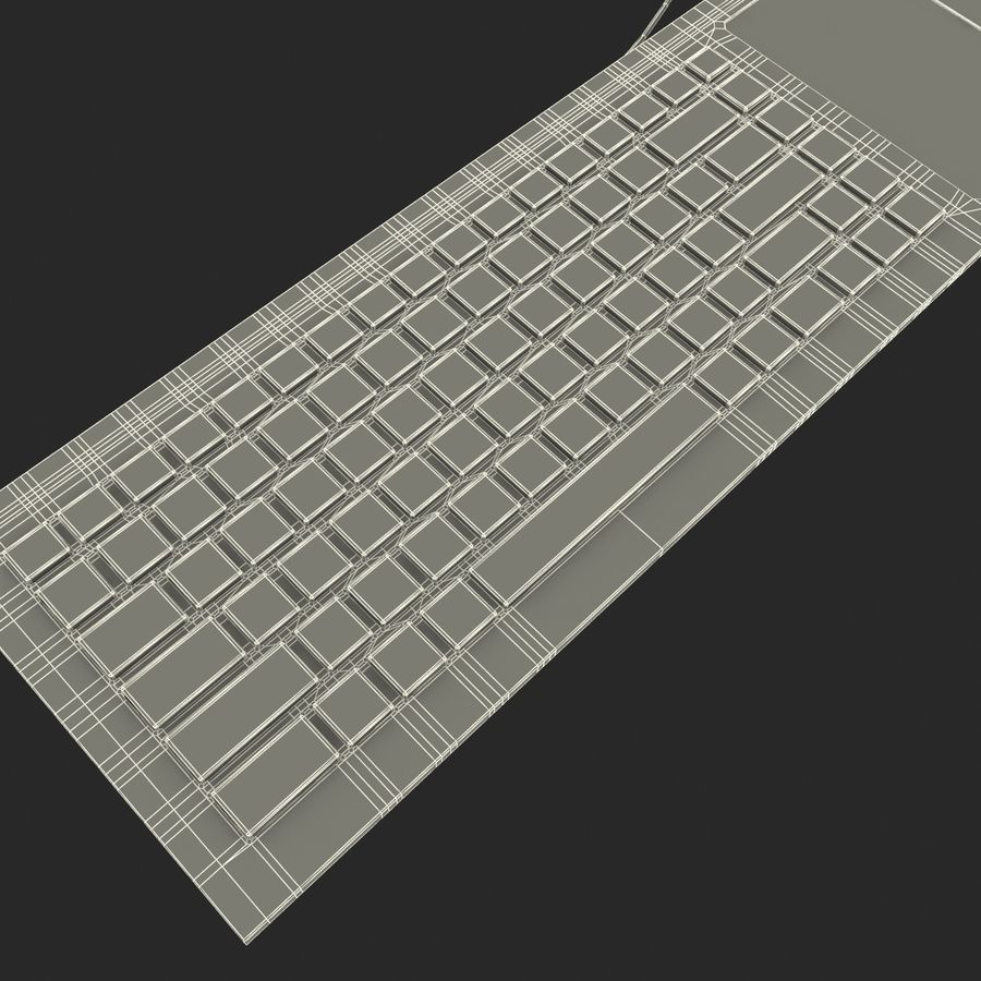 Asus Eee Keyboard PC royalty-free 3d model - Preview no. 17