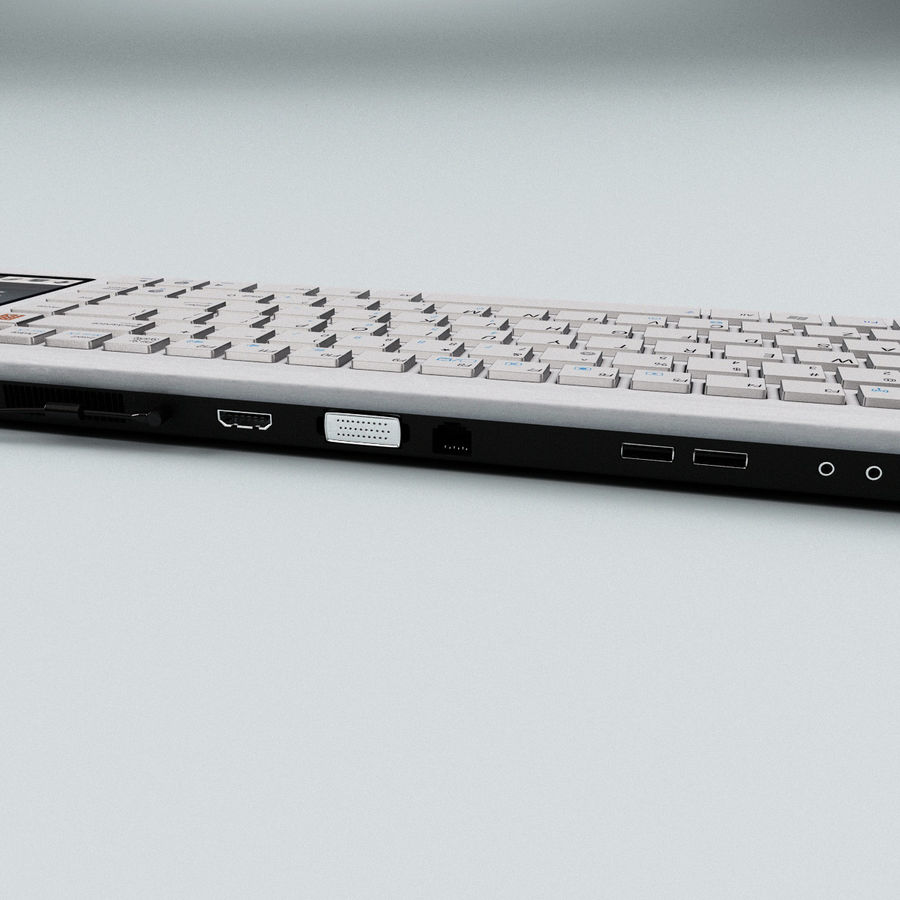 Asus Eee Keyboard PC royalty-free 3d model - Preview no. 13