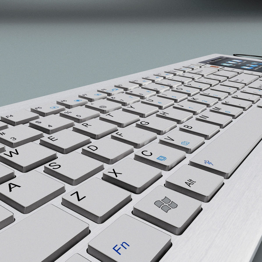 Asus Eee Keyboard PC royalty-free 3d model - Preview no. 12