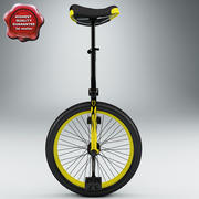 Yellow Unicycle 3d model