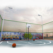 Terrain de basketball 3d model