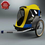Przyczepa rowerowa dla zwierząt 3d model