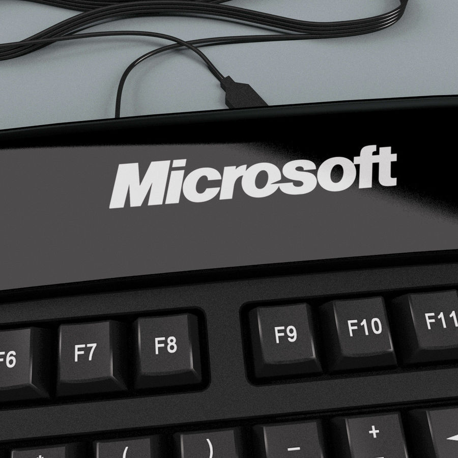 Microsoft Reclusa Keyboard royalty-free 3d model - Preview no. 14
