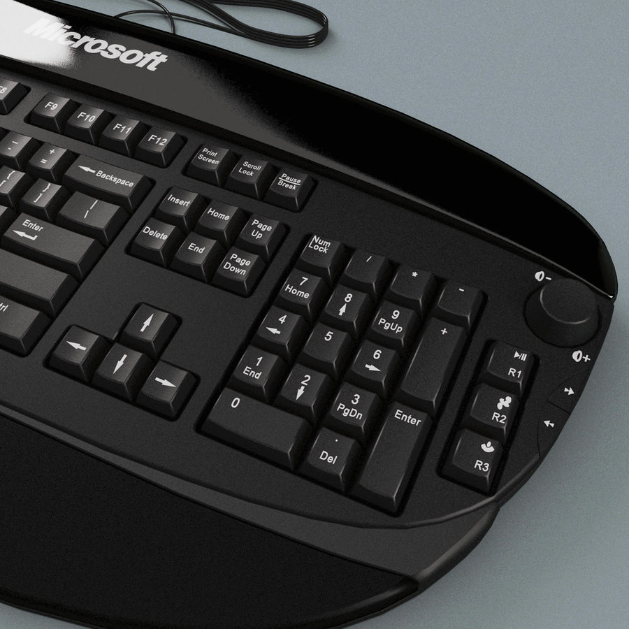 Microsoft Reclusa Keyboard royalty-free 3d model - Preview no. 11