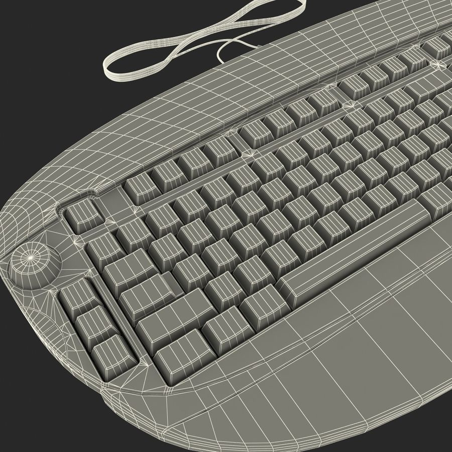 Microsoft Reclusa Keyboard royalty-free 3d model - Preview no. 20