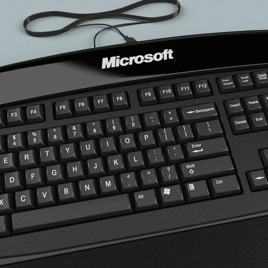 Microsoft Reclusa Keyboard royalty-free 3d model - Preview no. 10