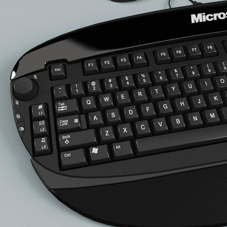 Microsoft Reclusa Keyboard royalty-free 3d model - Preview no. 9