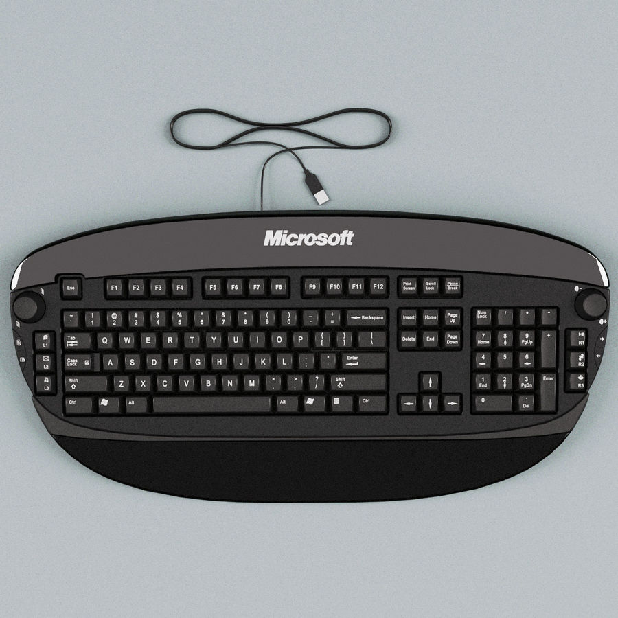 Microsoft Reclusa Keyboard royalty-free 3d model - Preview no. 2