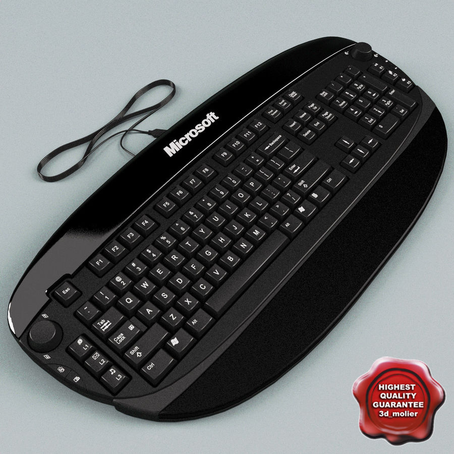 Microsoft Reclusa Keyboard royalty-free 3d model - Preview no. 1