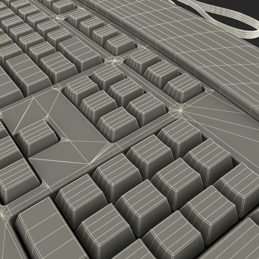 Microsoft Reclusa Keyboard royalty-free 3d model - Preview no. 21