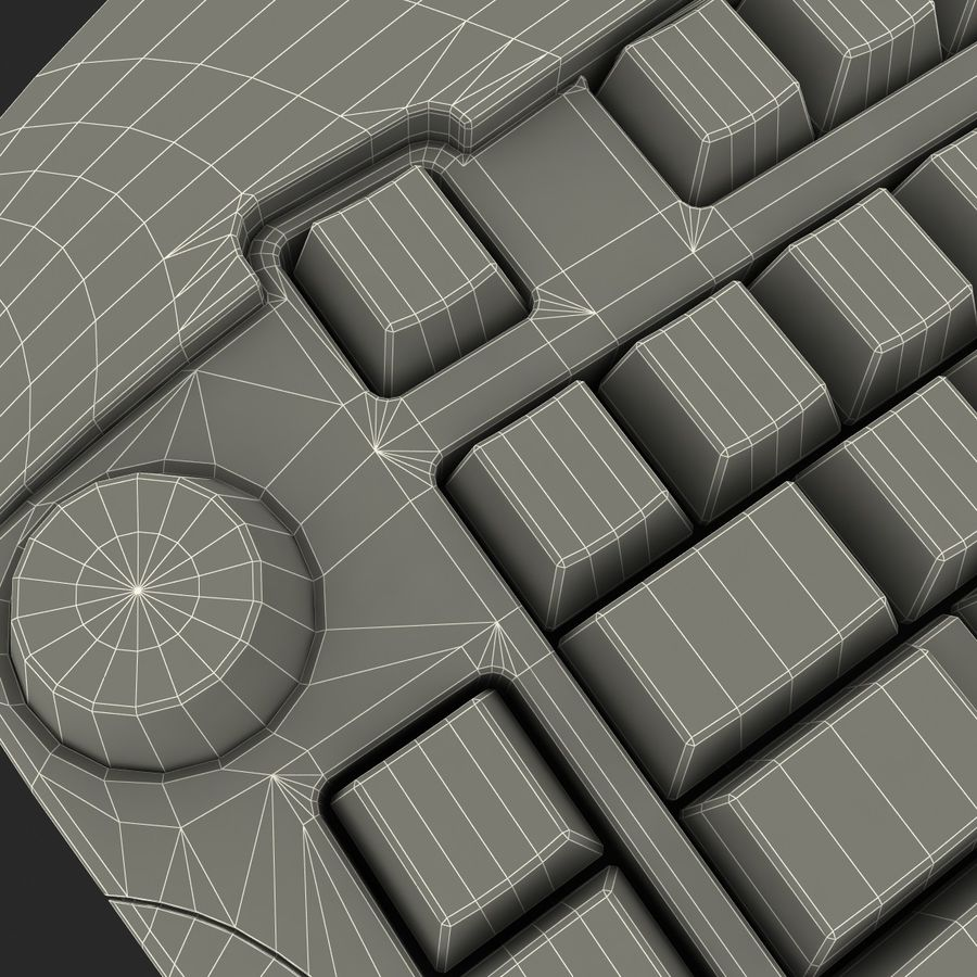 Microsoft Reclusa Keyboard royalty-free 3d model - Preview no. 22