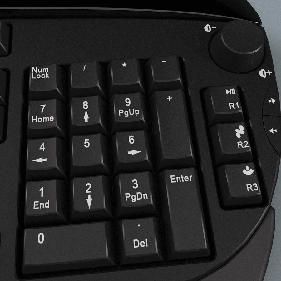 Microsoft Reclusa Keyboard royalty-free 3d model - Preview no. 12